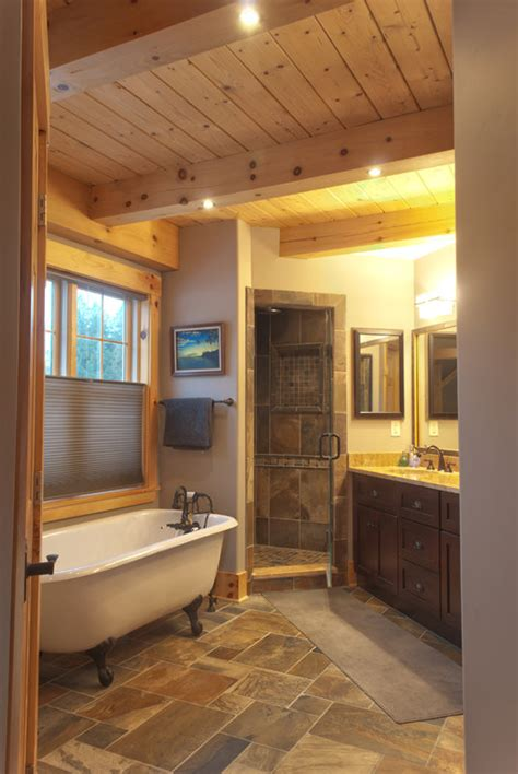 high tech bathroom   barn home timberpeg timber