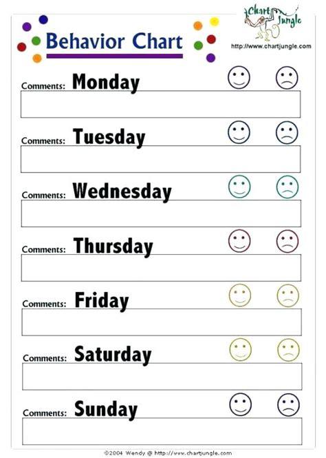 behavior charts for preschoolers template behavior charts for preschoolers template unique printable
