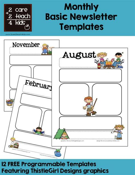 calendar newsletter template monthly templates calendars monthly