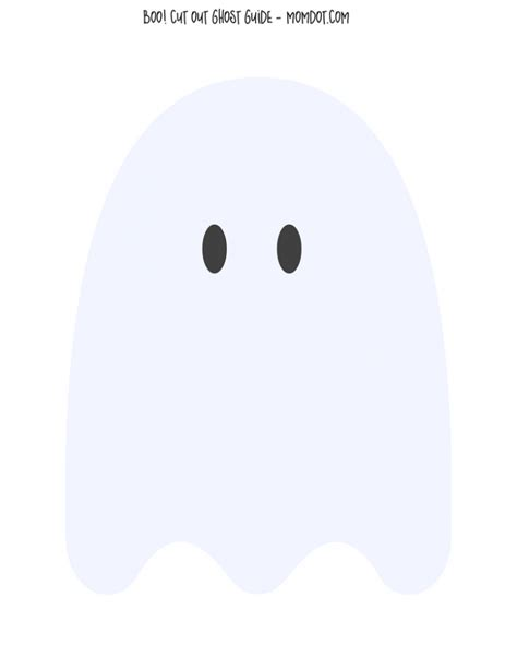 Ghost Template by Cotton Ghosts With Free Downloadable Ghost Template