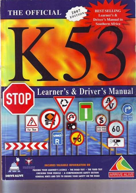 driver books science technology k53 learner s driver s manual