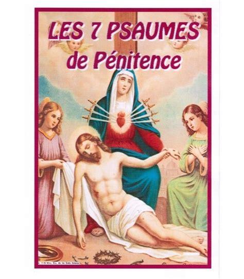 comptoir spirituel les sept psaumes de p 233 nitence pri 232 res neuvaines