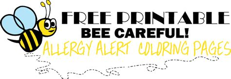 printable allergy alert poster bumble bee food allergy coloring pages lil allergy advocates