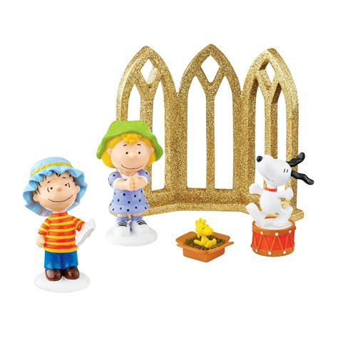 department 56 peanuts christmas nativity set ebay