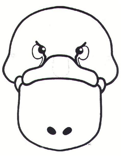 printable possum mask template platypus mask google search aussie 12 days of xmas