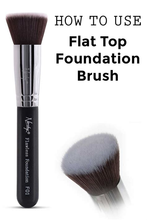 how to use flat top foundation brush learn to contour