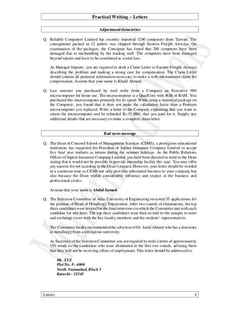 Complaint Letter Transport Company 01 Practical Writing All Letters