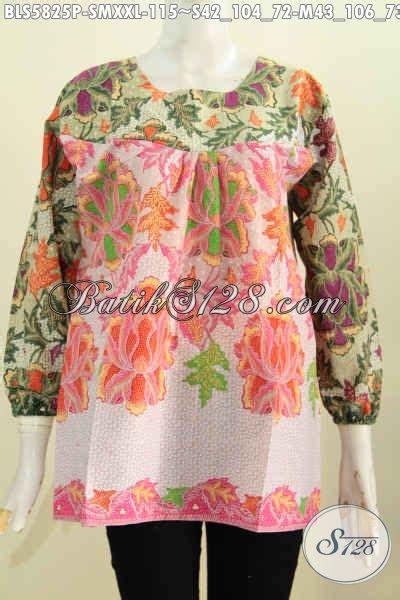 Kemeja Panjang Lengan Panjang Dress Krah batik blus tanpa krah size m baju batik dual warna bahan