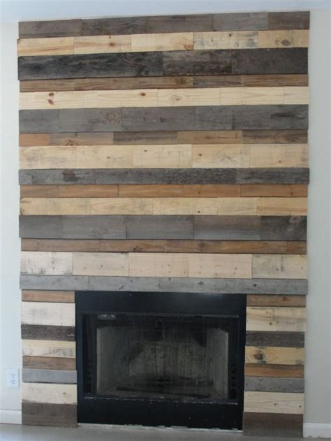 Pallet Wall Fireplace by Fireplace Surround Made Out Of Pallets Free