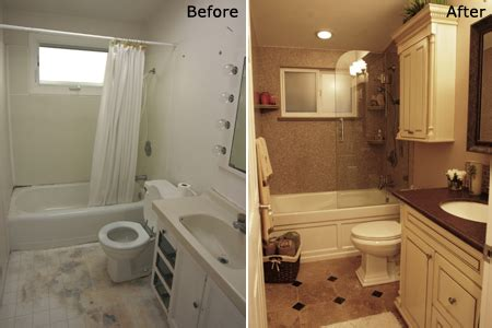 bath remodel before after