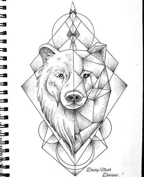 geometric bear tattoo geometric tattoos inspiration