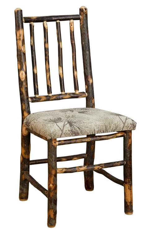 hickory dining room chairs amish rustic hickory chair with four spindle back