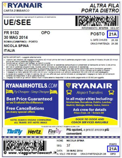 carta d imbarco mobile check in mobile ryanair con carta di imbarco