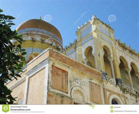 the moorish villa sticchi in a colorful italian villa with a dome in italy royalty free