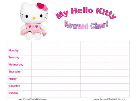 printable reward charts hello kitty reward charts