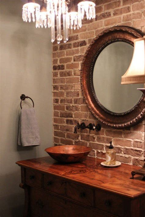 brick in a bathroom 1000 ideas about brick bathroom on mosaic tiles metro tiles and exposed brick