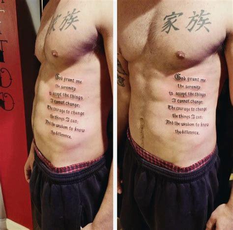 mens side tattoos 50 serenity prayer designs for uplifting ideas