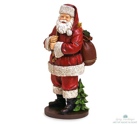 burtonandburton hand painted resin figurines of santa