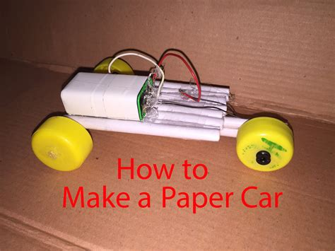 How To Make Car From Paper - how to make a paper car that can move