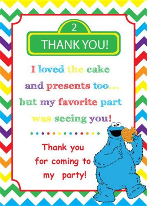 Sesame Thank You Card Template by 17 Best Ideas About Cookie On Cookie