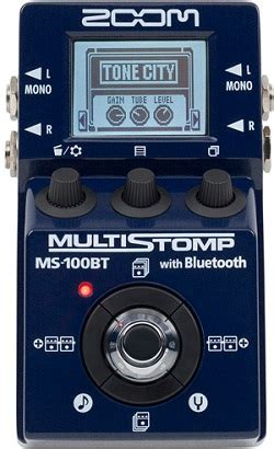 Zoom Multistomp zoom ms 100bt multistomp pedal with bluetooth guitarsite