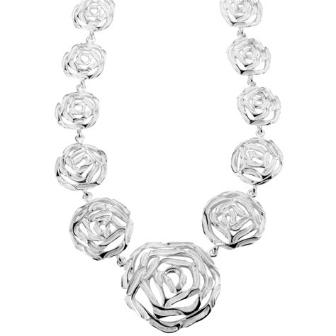 roses that last forever silver roses last forever necklet from shipton and co uk