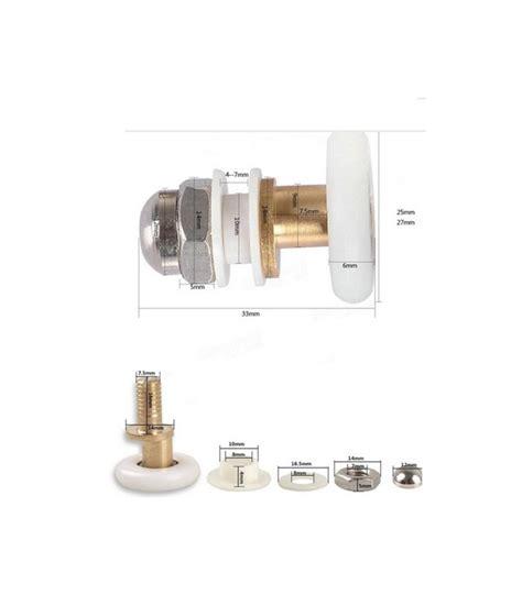 Sliding Glass Door Runners 25 27mm Replacement Brass Bathroom Shower Door Roller Runner Glass Sliding Door Wheel Pulley