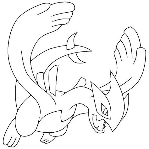 lugia legendary pokemon coloring page coloring for kids