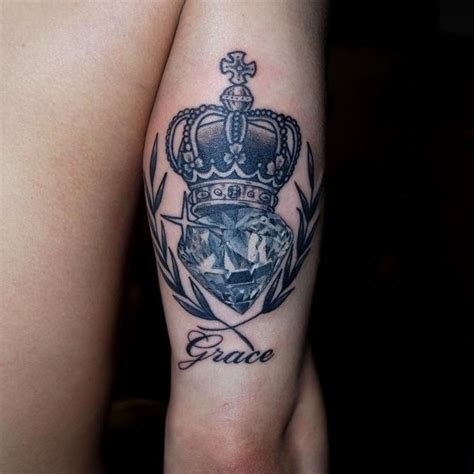 diamond queen tattoo crown tattoos king and queen crown tattoos with meaning