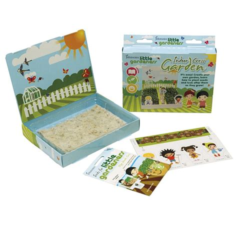 Little Gardeners Indoor Cress Garden Kit Johnsons Seeds Vegetable Garden Seed Kits