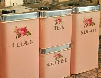pink kitchen canister set 1000 images about vintage canisters on