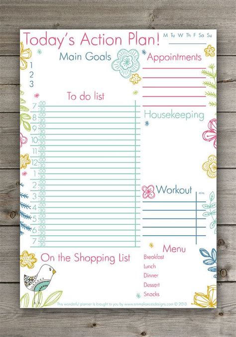 printable daily planner cute cute daily planner cute hand drawn floral planner pdf