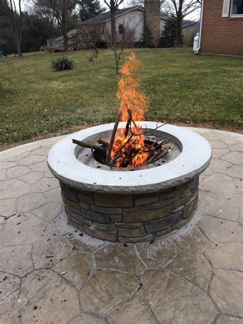 Concrete Firepit A Concrete Pit Garden Landscape
