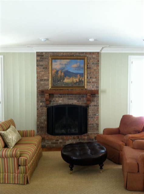 help with updating brick fireplace wall