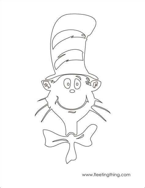 Cat In The Hat Hat Coloring Page cat in the hat coloring page teaching ideas