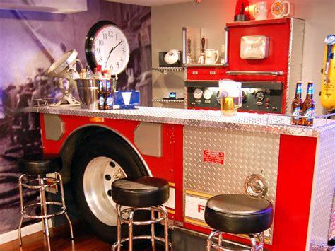 fireman home decor fire truck man cave hgtv