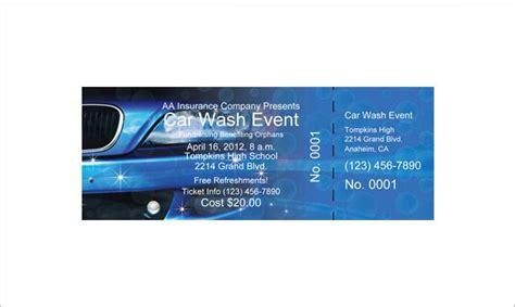 free car wash ticket template ticket templates free premium templates