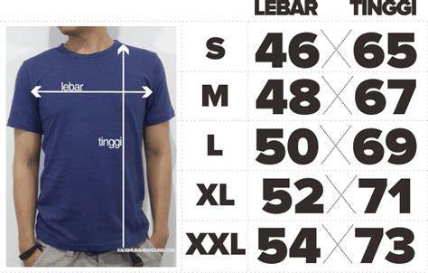 Kaos Polos Pria Dewasa Size Xl standar ukuran kaos polos dan kaos sablon s m l xl