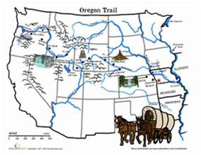 The Oregon Trail Map by Oregon Trail Map The Wagon Train Of 1843 Worksheet