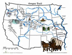 oregon trail interactive map oregon trail map the wagon of 1843 worksheet