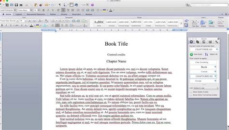 format ebook in word how to format an ebook using microsoft word styles