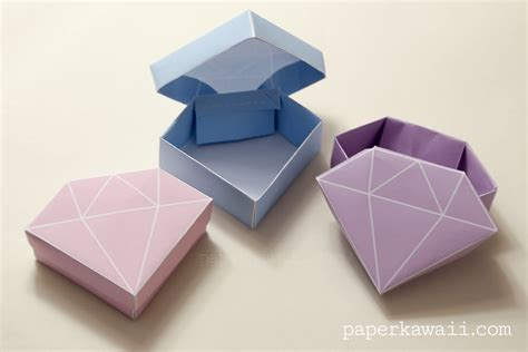 Paper Folded Box - origami how to make a paper box that opens and closes