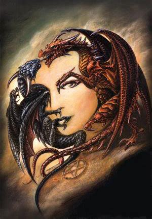 tattoo dragon lady just two dragons nothing more