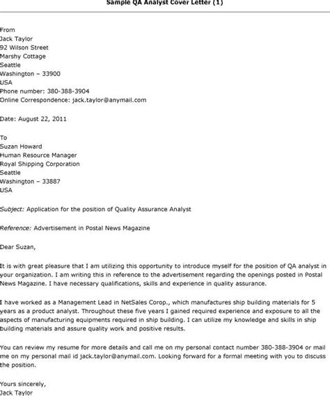 qa cover letter resume and cover letter resume and