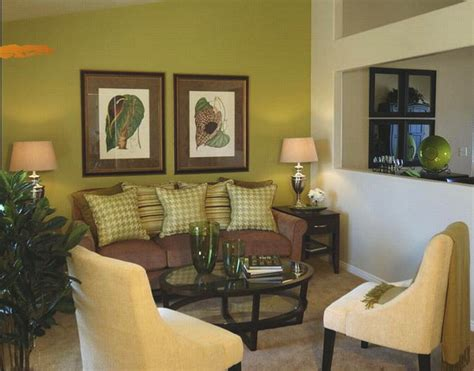 green and brown room living rooms painted green home decorating ideas
