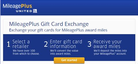 United Gift Card - exchange your unwanted gift cards for united miles