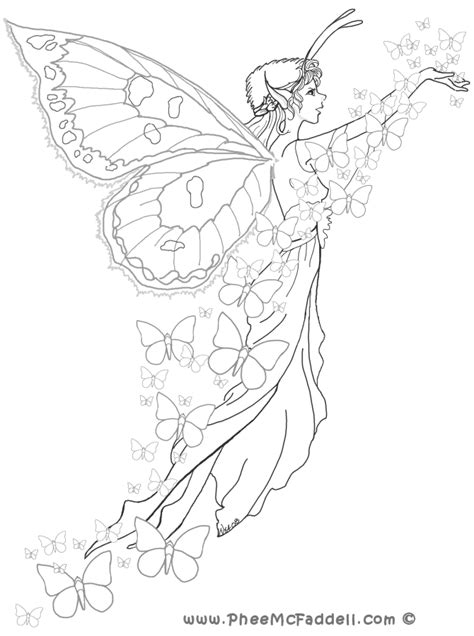 free how to draw a fairy coloring pages