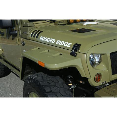 rugged ridge fenders rugged ridge 11640 25 hurricane flat fender flare kit 07 16 wrangler jk