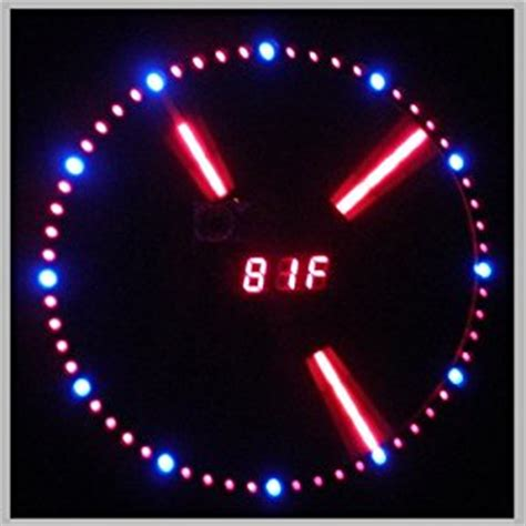 mirror wall clock with temperature display and