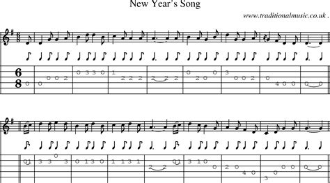 new year songs lyrics guitar chords scottish tune sheetmusic midi mp3 guitar chords tabs